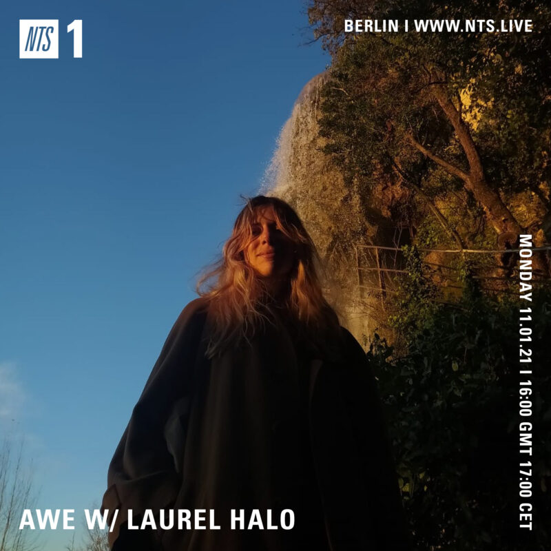 """Awe on NTS <p><a href=""""https://www.nts.live/shows/laurel-halo/episodes/laurel-halo-11th-january-2021"""">https://www.nts.live/shows/laurel-halo</a></p>"""